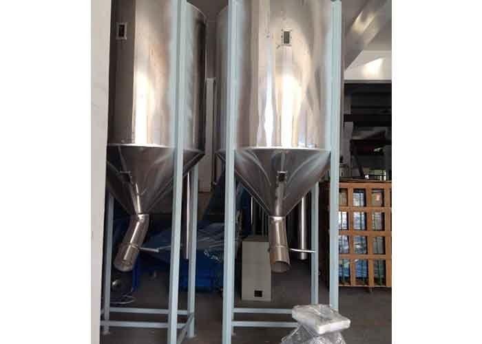 Large Capacity Stainless Hopper Conical 2.2kw 1000L For Plastic Pelletizing Machine