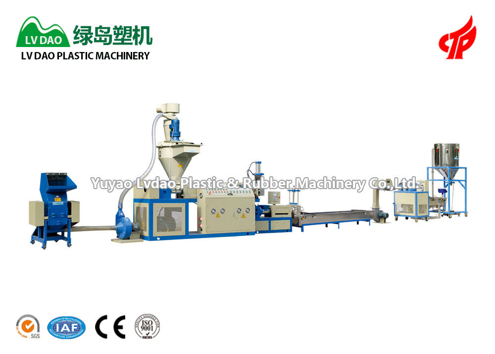 Blue Color Plastic Washing And Recycling Machine Automatic Crushing Production Line