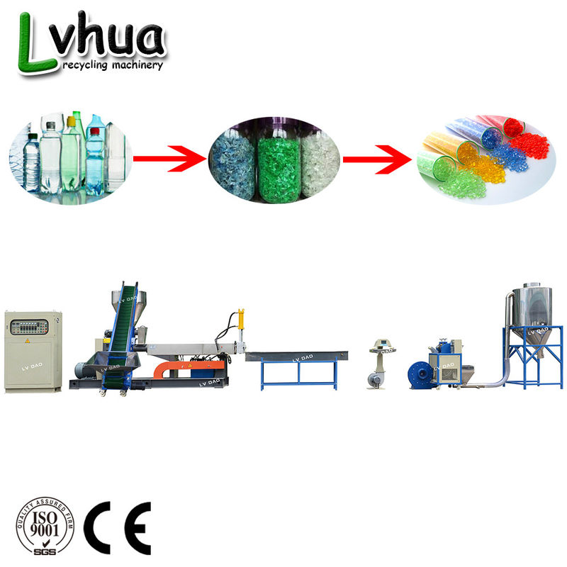 500kg/H Pet Water Bottle Recycling Machine With Custom Voltage Standard